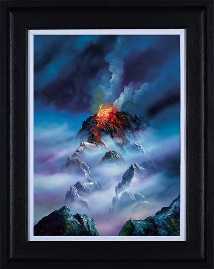 Blazing Clouds by Philip Gray - Framed Embelished Canvas on Board